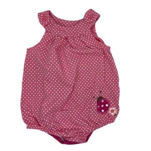 🌸💲3)First Impressions Bodysuit Pink Lady Bug 12m